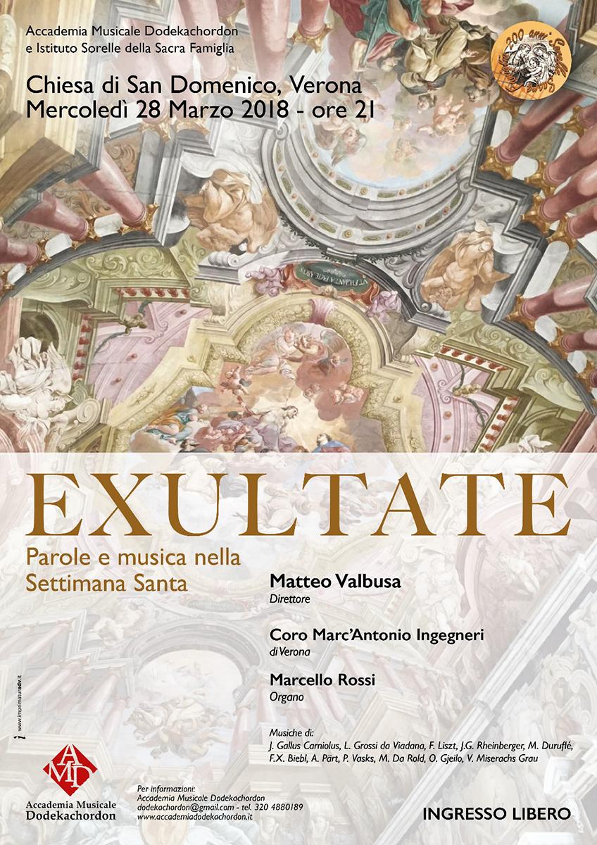 28.03.2018 - EXULTATE, chiesa di San Domenico (Verona)