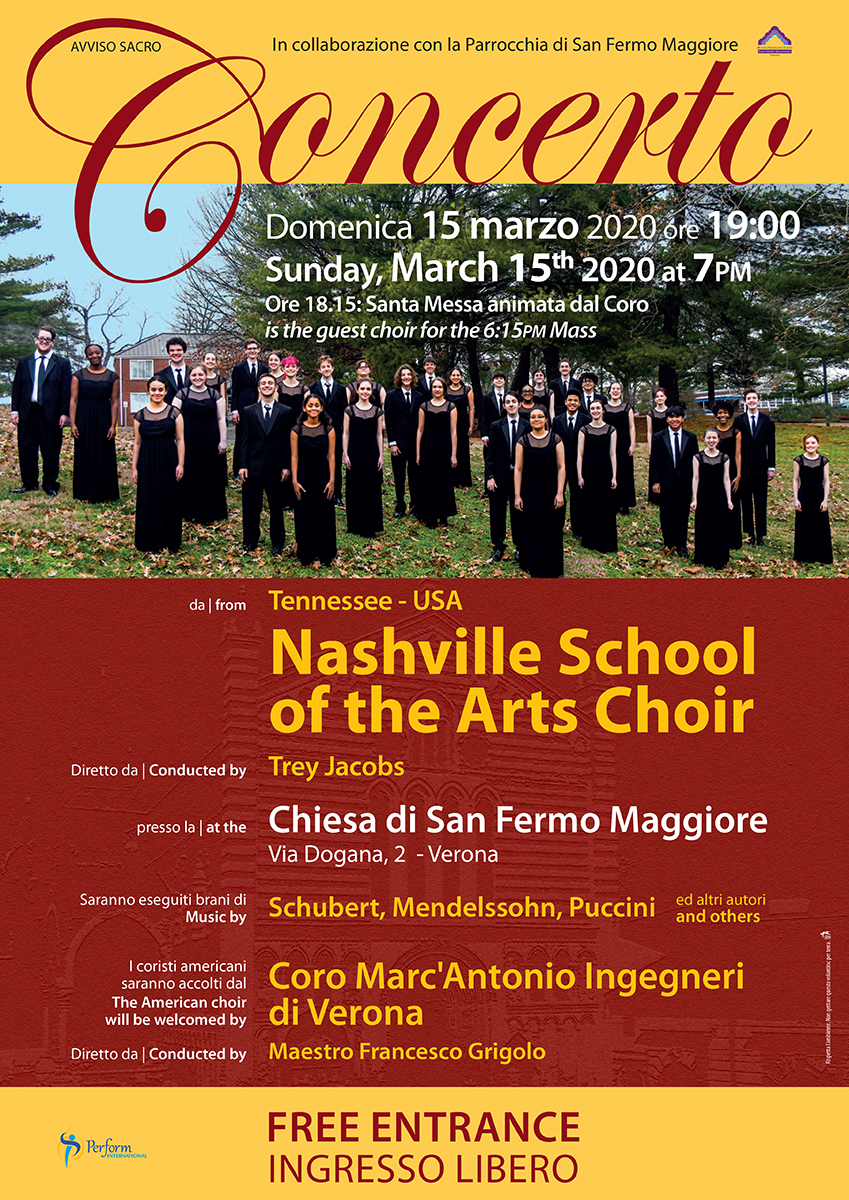 15.03.2020 - Nashville School of the Arts Choir, Verona