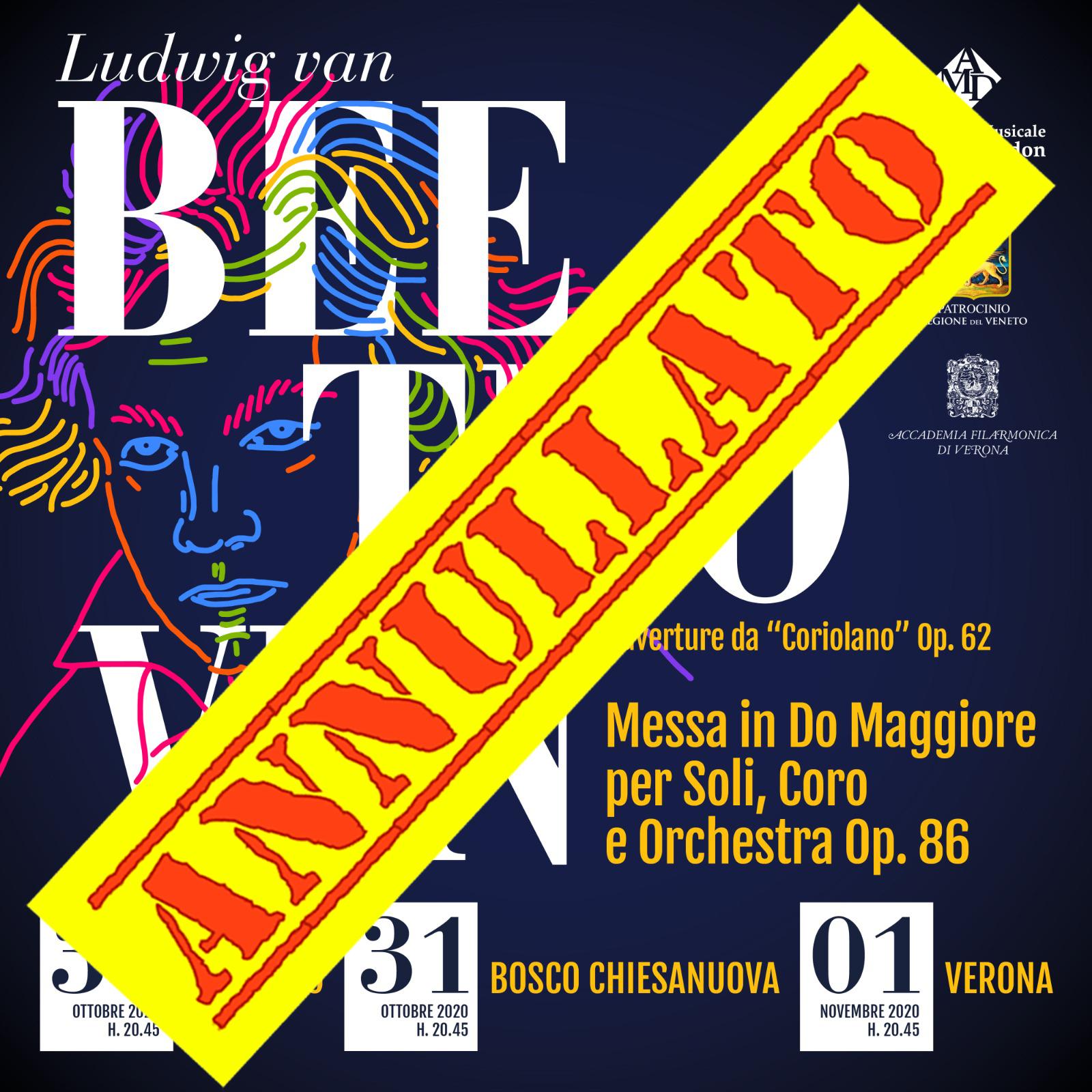 Annullati i concerti in onore di Beethoven